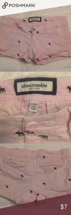 Abercrombie and Fitch shorts Light pink with navy Moose abercrombie kids Bottoms Shorts