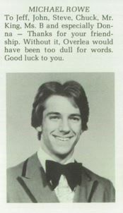 """Mike Rowe senior picture 1980 Overlea High School in Baltimore Maryland. Currently the host of """"Dirty Jobs."""" My cousin knew him at Towson State University, and said he was nice guy. Michael Rowe, Mike Rowe, Deadliest Catch, Like Mike, Good Luck To You, Baltimore Maryland, Great Team, My Cousin, Good Advice"""