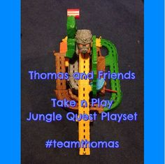 Thomas and Friends Take-n-Play Jungle Quest Review #teamthomas Train sets. Birthday ideas. Toddler toys.
