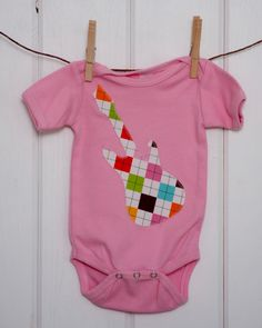 Baby Girl Clothes // Short Sleeve Girls Pink by brownowldesign, $15.00