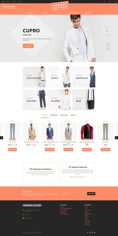 PrestaShop Template , MannerAuthor - Men Clothes