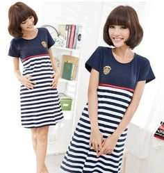 2014 new fashion 580 stripe maternity casual dress clothing/clothes summer pregnant plus size one-piece dress/short sleeve US $13.46