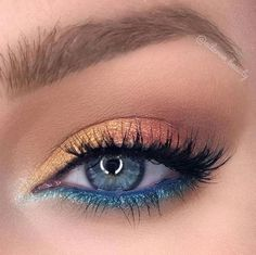 Makeup Eye Looks, Eye Makeup Art, Blue Eye Makeup, Makeup Inspo, Makeup Tips, Beauty Makeup, Makeup Tutorials, Makeup Ideas, Eyeshadow For Blue Eyes