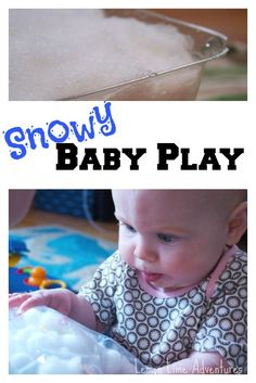Snowy Baby Play: Winter Hands On Fun Part of Hands On Party. Lots of Hands On Play ideas for all ages. Lots of ideas in one place. Baby Sensory Play, Sensory Activities, Baby Play, Infant Activities, Infant Sensory, Sensory Bags, Winter Activities For Kids, Winter Crafts For Kids, Winter Fun