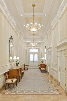 Grand hallway of the Brigham City Utah temple