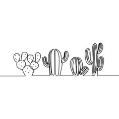 Continuous Line Drawing Of Vector Set Of Cute Cactus Black And White Sketch House Plants Isolated On White Background Potted Cactus Family Single Line Hand Drawn Illustration, Graphic, Cactus, Botanical PNG and Vector with Transparent Background for Free Single Line Drawing, Continuous Line Drawing, Single Line Tattoo, Cactus Drawing, Plant Drawing, Drawing Flowers, Black And White Sketches, Black And White Illustration, Black And White Art Drawing