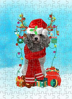Poodle Dog in Snow Jigsaw Puzzle, Christmas, 1000 Pieces Jigsaw Puzzle PrintYmotion #Poodle #Dog Lovers gift #Christmas Gift #Christmas Puzzle Lovers Gift, Gift For Lover, Dog Lovers, Christmas Puzzle, Christmas Ornaments, Love Challenge, Snow Dogs, Tin Boxes, Retirement Gifts