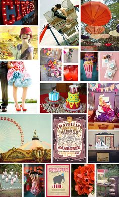Vintage Circus Theme  different colored petticoat under dress is so cute