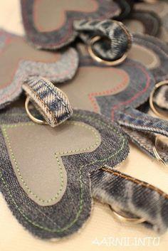 Tänään vietetään valtakunnallista heijastinpäivää . Liikenneturvan havaintojen mukaan vain puolet meistä kantaa mukanaan tätä edullisinta... Diy Crafts For School, Diy And Crafts, Homemade Gifts, Diy Gifts, Sewing Hacks, Sewing Crafts, Jean Crafts, Bazaar Ideas, Denim Ideas