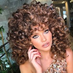 something special ♡ Big Curls For Long Hair, Long Curly, Kids Braided Hairstyles, Permed Hairstyles, Hairdos, Big Hair Tutorials, Blonde Curly Hair, Brunette Hair, Hair Brained
