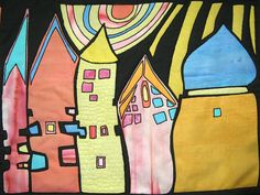 Hundertwasser inspired by the blue hare, via Flickr