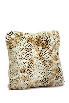 "Signature Faux Fur 24"" Pillow - Cheetah by Donna Salyers' Fabulous Furs on @HauteLook"