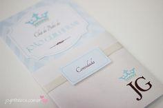 Convite chá de bebê: Tema Príncipe {Papelaria personalizada}