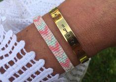 Geweven armbandjes van Miyuki kraaltjes in veel mooie kleurtjes. Deze Ibiza armbandjes zijn een echte musthave voor deze zomer! Shop ze bij Miss Boho €10 Loom Bracelets, Bangles, Cartier Love Bracelet, Ibiza, Boho, Jewelry Making, Diy, Handmade, Happiness