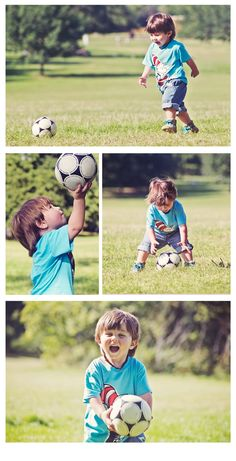 2 Years Old Portraits Boy's | Hylands Park | Football | Soccer | © Jemma Defroand Photography