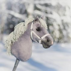 A grey pony by Eponi. Get your own dream pony from: www. Stick Horses, Horse Crafts, Hobby Horse, Horse Stables, Beautiful Horses, Lynx, Photo And Video, Random Stuff, Unicorn