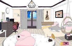 Dorm Room Layouts, Dorm Rooms, Casa Anime, Dorm Design, Dormitory, Boruto, My Hero Academia, Ideas Para, Bedrooms
