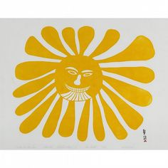 Kenojuak Ashevak (1927-2013), Woman Who Lives in the Sun, stonecut, 1960.