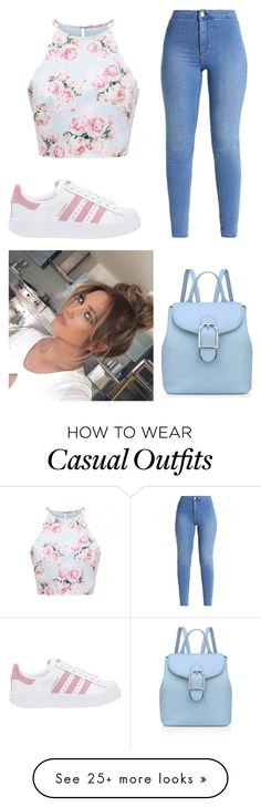 """""""Casually Casual"""" by diana-the-chocoholic on Polyvore featuring adidas Originals and Anne Klein"""