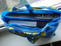 "i'll not look at those big ikea yellow (or blue) bags the same again, after this hack from funk-station. two nifty cuts, some sewing and voila, you have a shoulder bag – big and sturdy enough to hold 2 laptops. ""the basic idea behind this hack is to transform a huge inconvenient bag into a [&hellip"