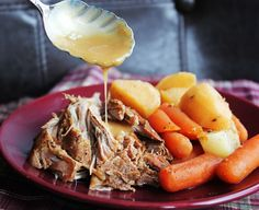 Pork Roast with Vegetables and Gravy from Jamie Cooks It Up!