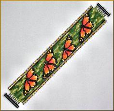 Peyote Patterns, Loom Patterns, Bracelet Patterns, Beading Patterns, Beading Tutorials, Bracelet Designs, Bead Loom Bracelets, Woven Bracelets, Bracelets