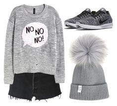 """""""Gray..."""" by coalasepandas ❤ liked on Polyvore featuring RE/DONE, H&M and NIKE"""