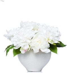 White Peonies In White Bowl Faux Flower Arrangements, White Peonies, Site Design, Faux Flowers, Wallpaper, White Bowl, Home Decor, Fake Flowers, Decoration Home