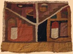 Antique Pre-Columbian Textile, Middle Horizon Wari Textile. 500-800 A.D