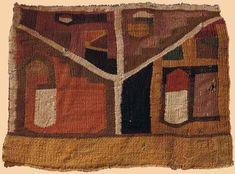 Antique Pre-Columbian Textile, Middle Horizon Wari Textile. 500-800 A.D