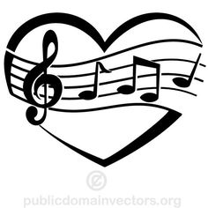 music stencils to print free musical notes image vector clip rh pinterest com free clipart music note free musical clipart