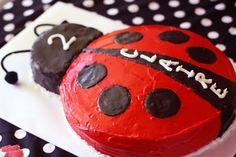 I want to make a lady bug cake now. Ladybug Cakes, Ladybug Party, Ladybug 1st Birthdays, First Birthdays, Birthday Fun, First Birthday Parties, Birthday Ideas, Birthday Cake, Rosalie