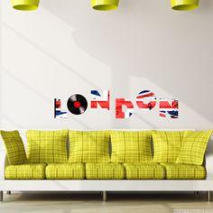 Stickers muraux Animaux - Sticker LONDON Union Jack vinyl | Ambiance-sticker.com