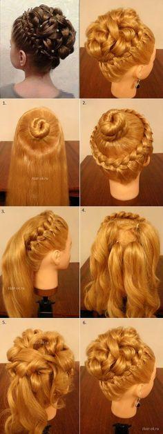 Elegant Braiding Hairstyle With Curls  DIY #beautyhairstyles #diyhairstylescurls