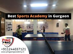 PING PONG ACADEMY is one of the good sports academies in Gurugram. We provide a world-class facility with top-notch infrastructure for all age group sports training classes in Table Tennis games. Get details of the class to call us at Table Tennis Game, Tennis Games, Tennis Tips, Sports Training, Gym Training, Training Tips, Training Academy, Training Classes, T Is For Train