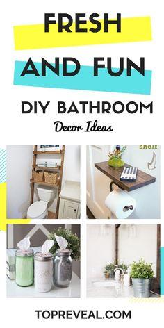 DIY Bathroom Decor Ideas that will make it sparkle and shine! Diy Bathroom Decor, Diy Home Decor, Bathroom Ideas, 50s Bathroom, Disney Bathroom, Lowes Bathroom, Bathroom Vinyl, Bathroom Prints, Bathroom Towels