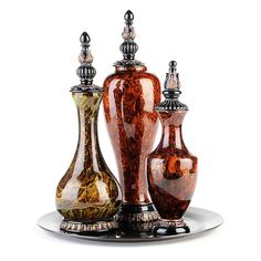 Marble Swirl Bottle, Set of 3 | Kirklands