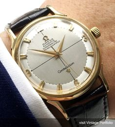 Wonderful Omega Constellation Solid Gold Automatic