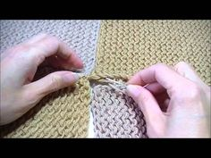 Sewing patches together aan elkaar haken Joining Crochet Squares, Crochet Blocks, Knitting Projects, Crochet Projects, Sewing Projects, Easy Knitting, Loom Knitting, Sew On Patches, Merino Wool Blanket