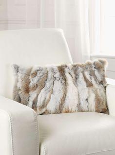 Rabbit fur cushion 30 x 50 cm - Cushions | Simons