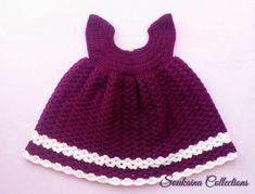 Little Princess Sara Crochet Baby Dress Free Patte Crochet Baby Dress Free Pattern, Baby Cardigan Knitting Pattern Free, Newborn Crochet Patterns, Baby Dress Patterns, Skirt Patterns, Beanie Pattern, Coat Patterns, Blouse Patterns, Sewing Patterns