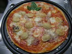 Pizza jambon chevre mozza