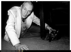 William S. Burroughs and kitteh. I watched a documentary about him where his former boyfriend said that Burroughs loved his cats more than anything and anyone... including the boyfriend.