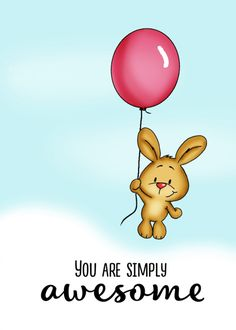 I miss you - Cute Bunny with Balloon! Personalize any greeting card for no additional cost! Cards are shipped the Next Business Day. Mom Cards, Cards For Friends, Thank You Cards, I Miss You Friend, Blue Glitter Wallpaper, I Miss You Cute, Thank You Flowers, Unique Cards, Cute Bunny