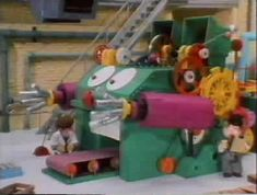 Bertha was a very special machine because she could make anything you wanted provided she was programmed correctly