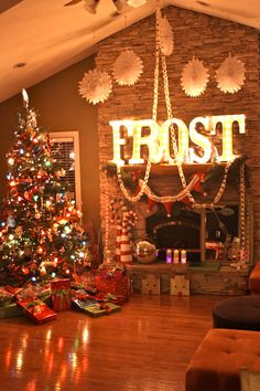 #christmas #mantle. Omg I'm loving the huge letters