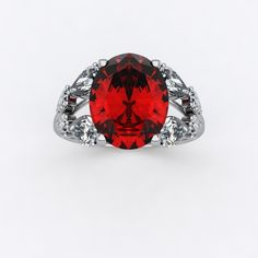 Bague Sienna Double Or blanc et Rubis