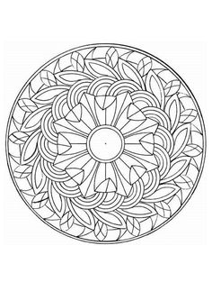 intricate coloring pages | Difficult Level Mandala Coloring Pages Pictures