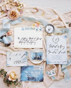 This colour scheme - from the moody blues to the warm peachy background - is so so perfect. Love this suite and love these colours!