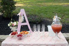 cute beverage table